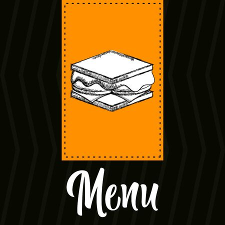 Restaurant menu design. Restaurtant brochure - Vector illustration