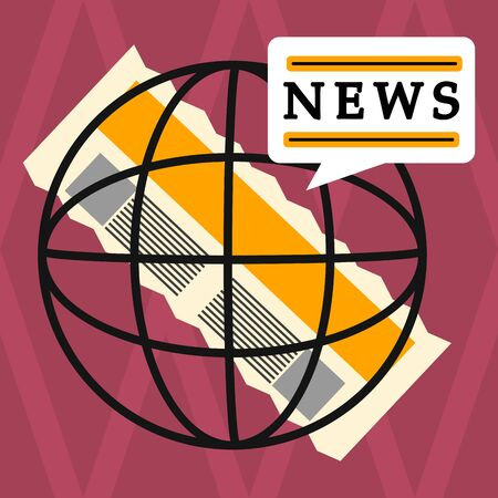 Newspaper clipping image. News concept- Vector illustration