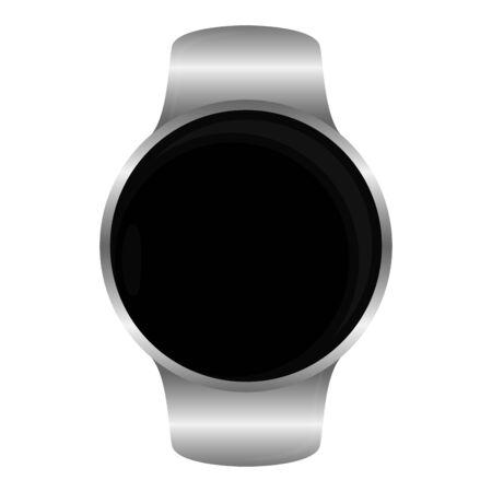 Isolated smartwatch image. Digital clock - Vector illustration Çizim