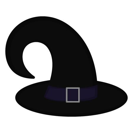 Isolated witch hat over a white background - Vector