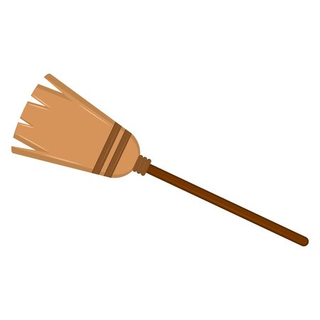 Isolated witch broom on a white background - Vector