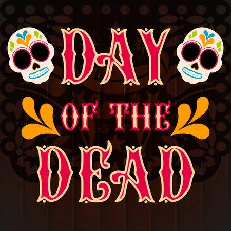 Day of the dead poster - Vector illustration Stock Illustratie