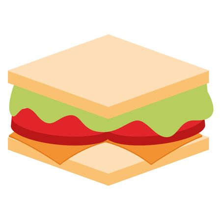 Isolated sandwich image over a white background - Vector Banque d'images - 132097661