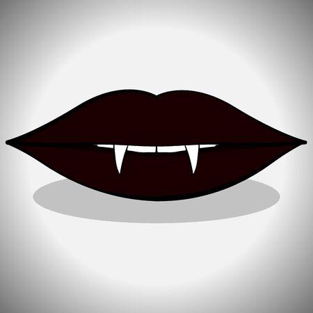 Icône de bouche de vampire. Spooky halloween - illustration vectorielle