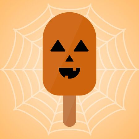 Monster shape ice cream  . Halloween season - Vector illustration Фото со стока - 133005979