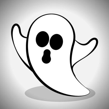 Scary ghost image. Spooky halloween - Vector illustration Фото со стока - 133005999
