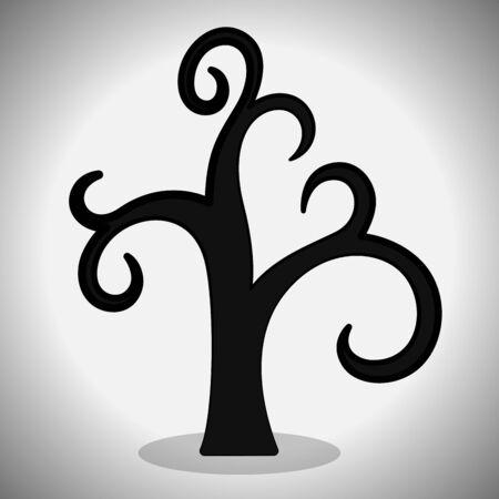 Halloween dry tree. Spooky halloween - Vector illustration Фото со стока - 133006018