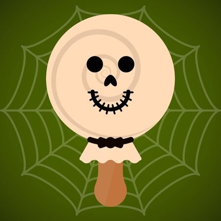 Monster shape ice cream  . Halloween season - Vector illustration Фото со стока - 133006038