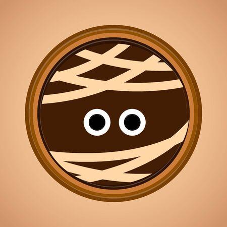 Cute mummy face cartoon. Halloween season - Vector illustration Illustration