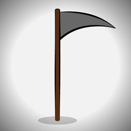 Reaper scythe image. Spooky halloween - Vector illustration