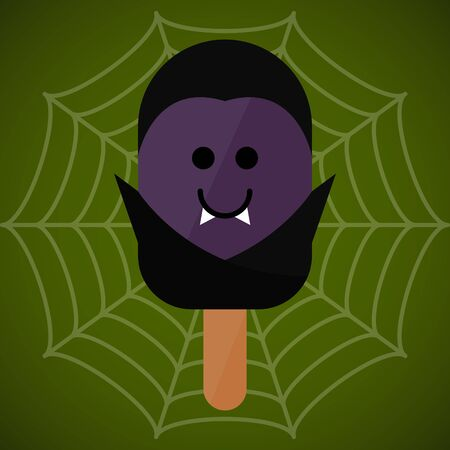 Monster shape ice cream  . Halloween season - Vector illustration Фото со стока - 133006140
