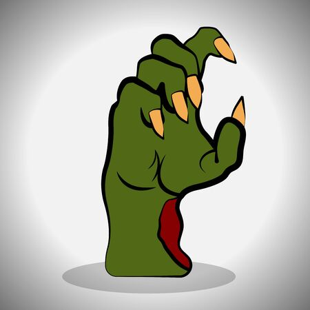 Zombie hand image. Spooky halloween - Vector illustration Фото со стока - 133006144