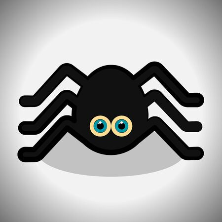 Spider cartoon image. Spooky halloween - Vector illustration Фото со стока - 133006165