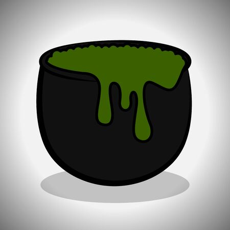 Witch cauldron image. Spooky halloween - Vector illustration