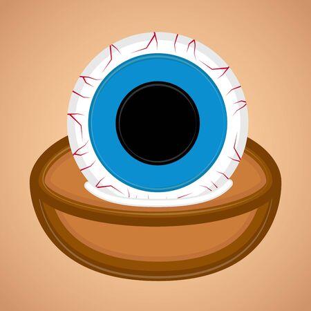 Spooky dead eye. Halloween season - Vector illustration Фото со стока - 133006182