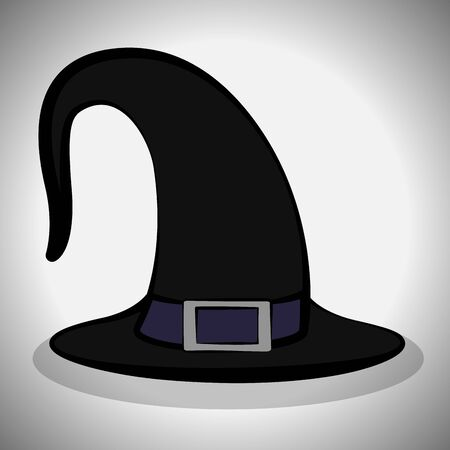 Witch hat image. Spooky halloween - Vector illustration Фото со стока - 133006185
