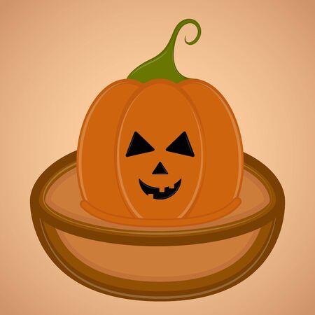 Spooky pumpkin halloween. Halloween season - Vector illustration