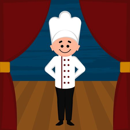 Chef character image. Halloween costume - Vector illustration Фото со стока - 133006194