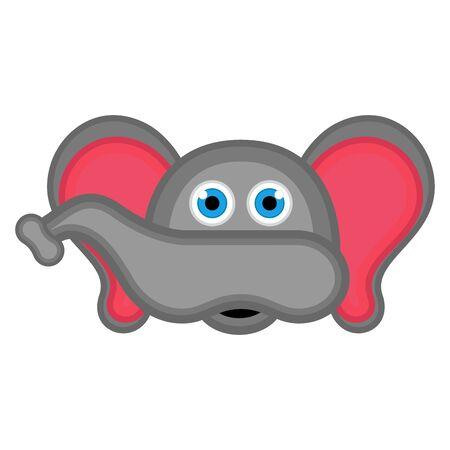 Isolated cute elephant avatar. Vector illustration design Foto de archivo - 133619048