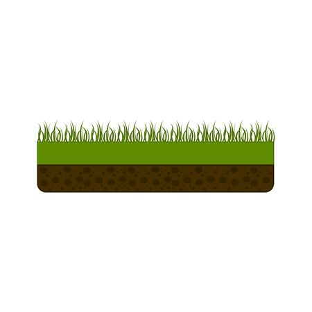 Isolated pixelated grass on white Иллюстрация