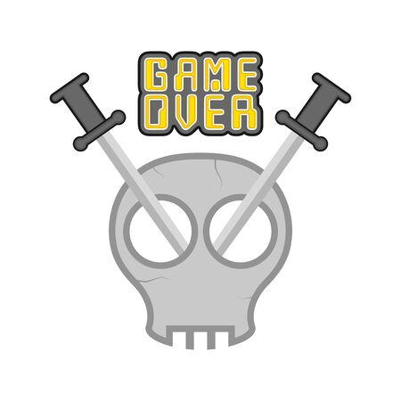 Game over concept  on white