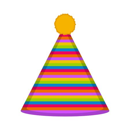 Isolated party hat on white