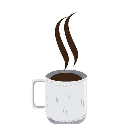 Isolated coffee cup on white