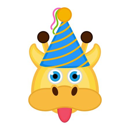 Giraffe with a party hat