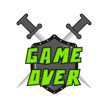 Game over concept on white Иллюстрация