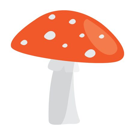 Isolated mushroom image over a white Иллюстрация