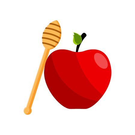 Isolated apple fruit on white Ilustração
