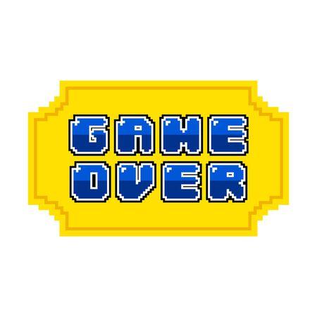 Game over concept on white Ilustração