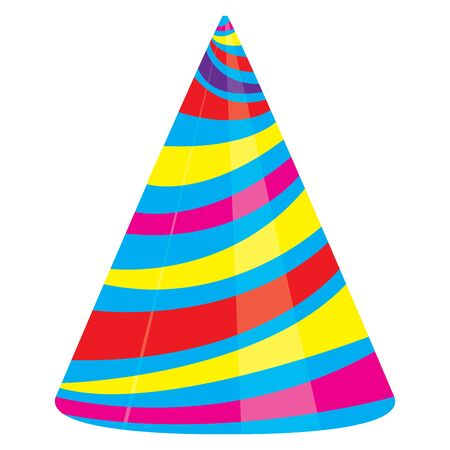 Isolated party hat over a white background - Vector illustration Иллюстрация