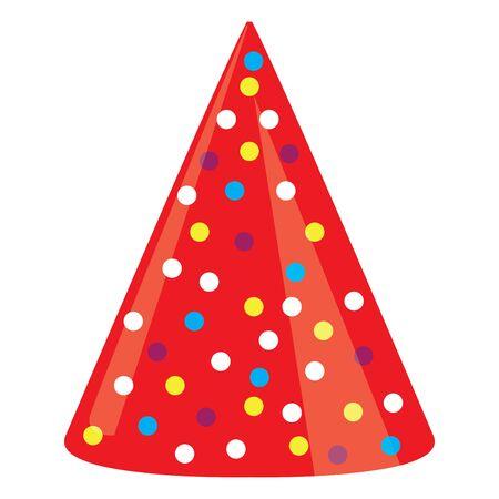 Sombrero de fiesta aislado sobre un fondo blanco - ilustración vectorial