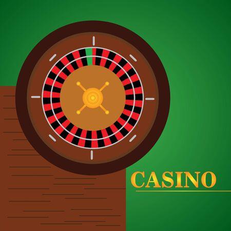 Casino roulette on a casino background - Vector illustration