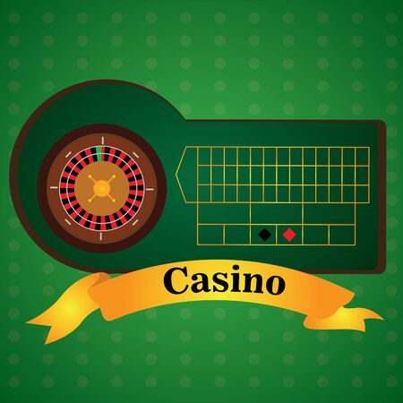 Roulette board on a casino background - Vector illustration
