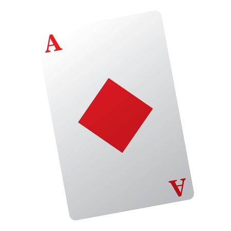 Isolated casino poker card over a white background - Vector illustration
