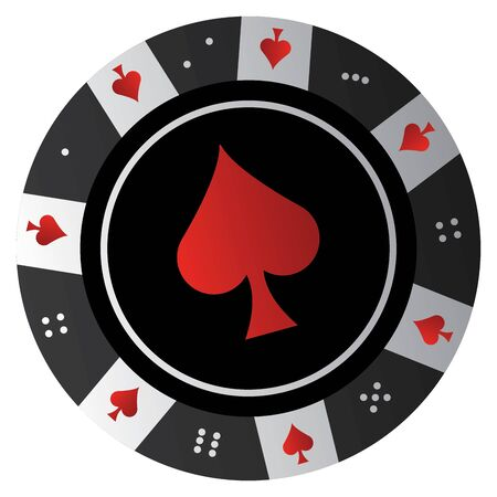 Isolated casino poker chip over a white background - Vector illustration