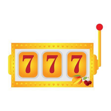 Isolated casino jackpot machine over a white background - Vector