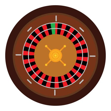 Isolated casino roulette over a white background - Vector illustration