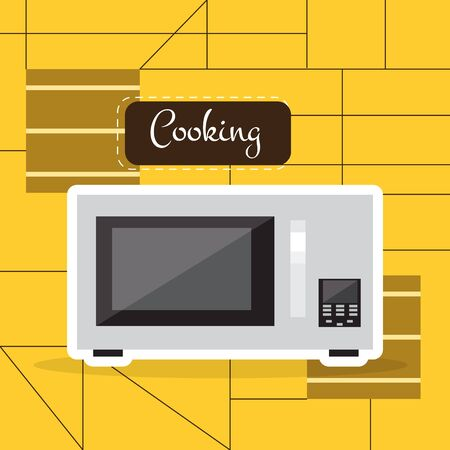 Isolated microwave over a colored background - Vector illustration Ilustración de vector