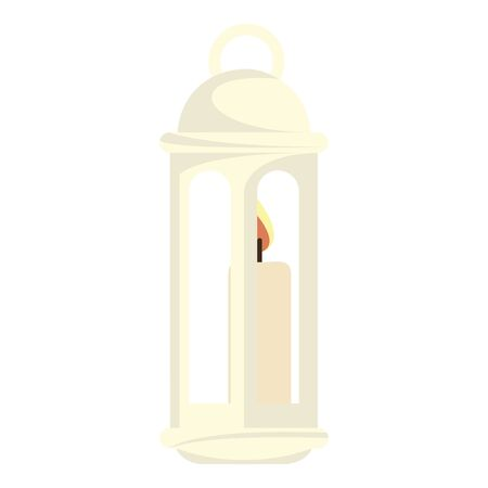 Isolated arabic lamp over a white background - Vector illustration