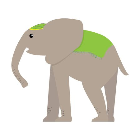 Isolated circus elephant on a white background - Vector Foto de archivo - 133619821