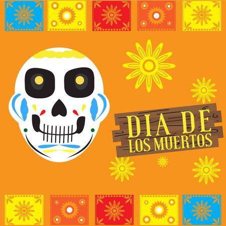 Dia de los muertos poster - Vector illustration  イラスト・ベクター素材