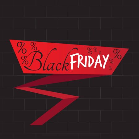 Black friday label with text - Vector illustration