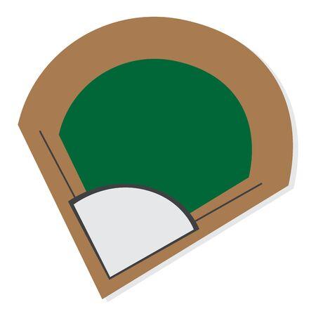 Baseball field base. Softball play - VEctor illustration