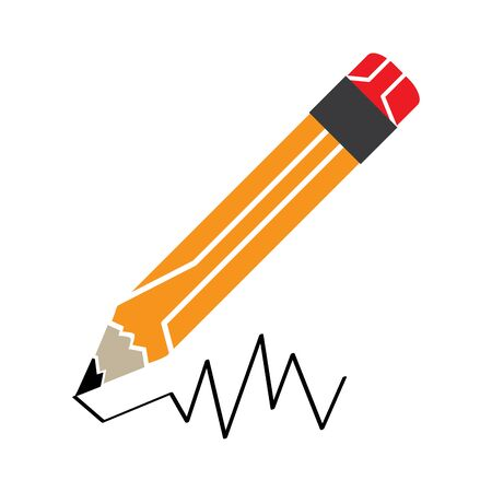 Isolated pencil icon on a white background - Vector