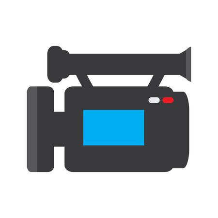 Isolated video camera icon on a white background - VEctor