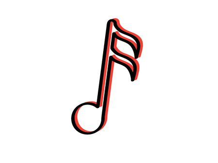 ISolated sixteenth musical note icon - Vector illustration
