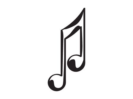 Isolated eighth musical note icon - Vector illustration